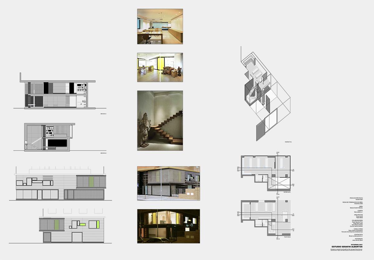Proyecto arquitectónico para Serafín Albertos. Planos técnicos e imágenes