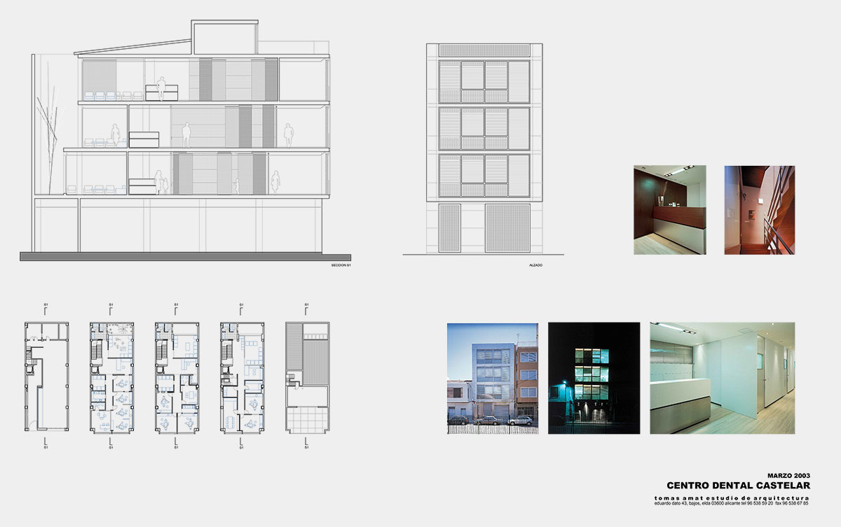 Proyecto de interiorismo para Centro dental Castelar