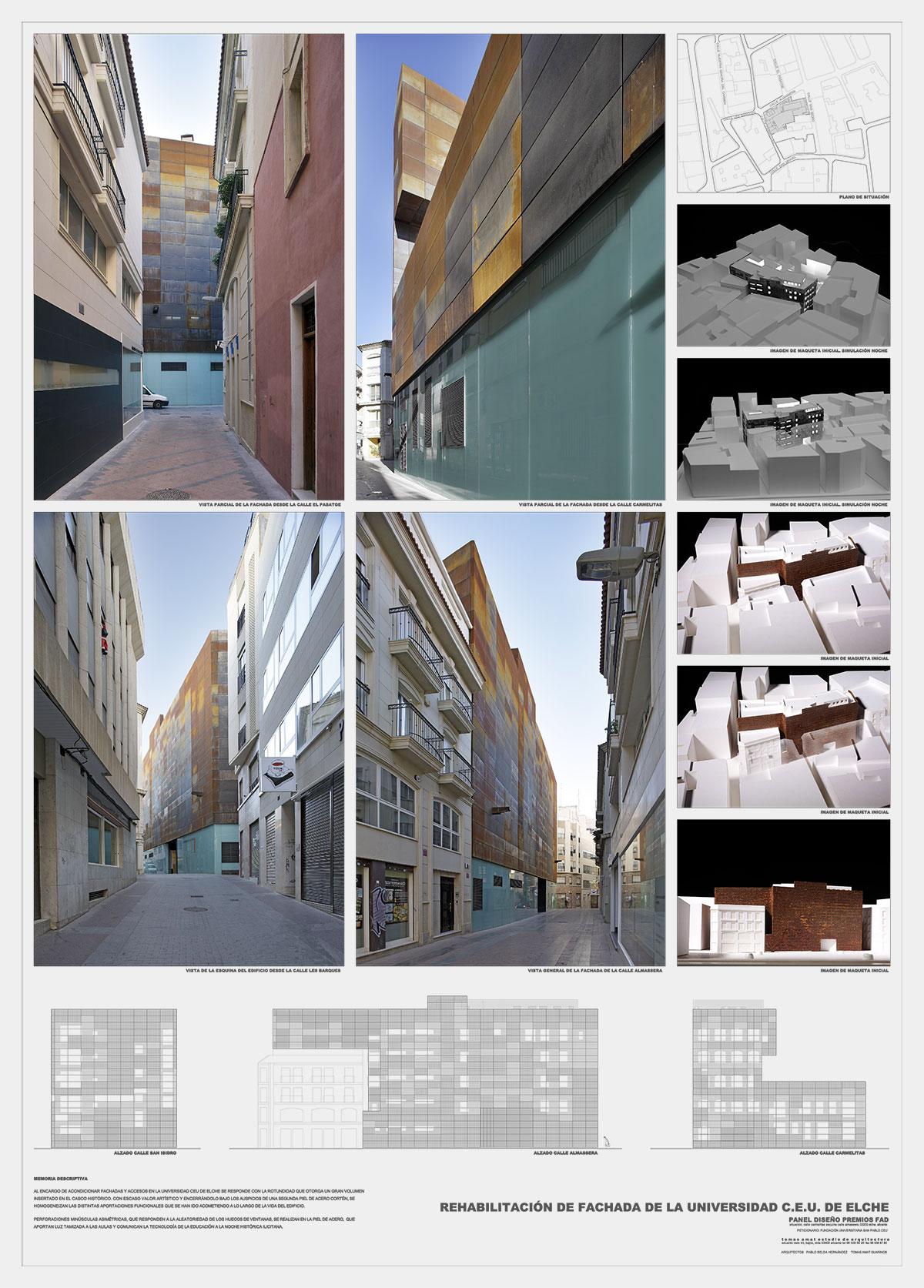 Proyecto fachada para CEU Elche