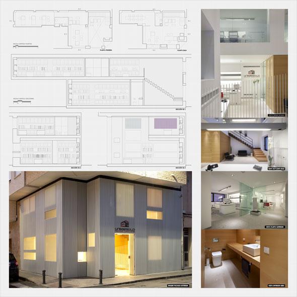 Panel proyecto de interiorismo oficinas Urbaestilo