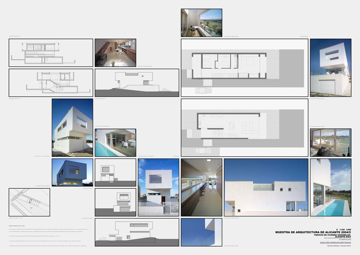 Proyecto arquitectura de vivienda en Alicante Golf