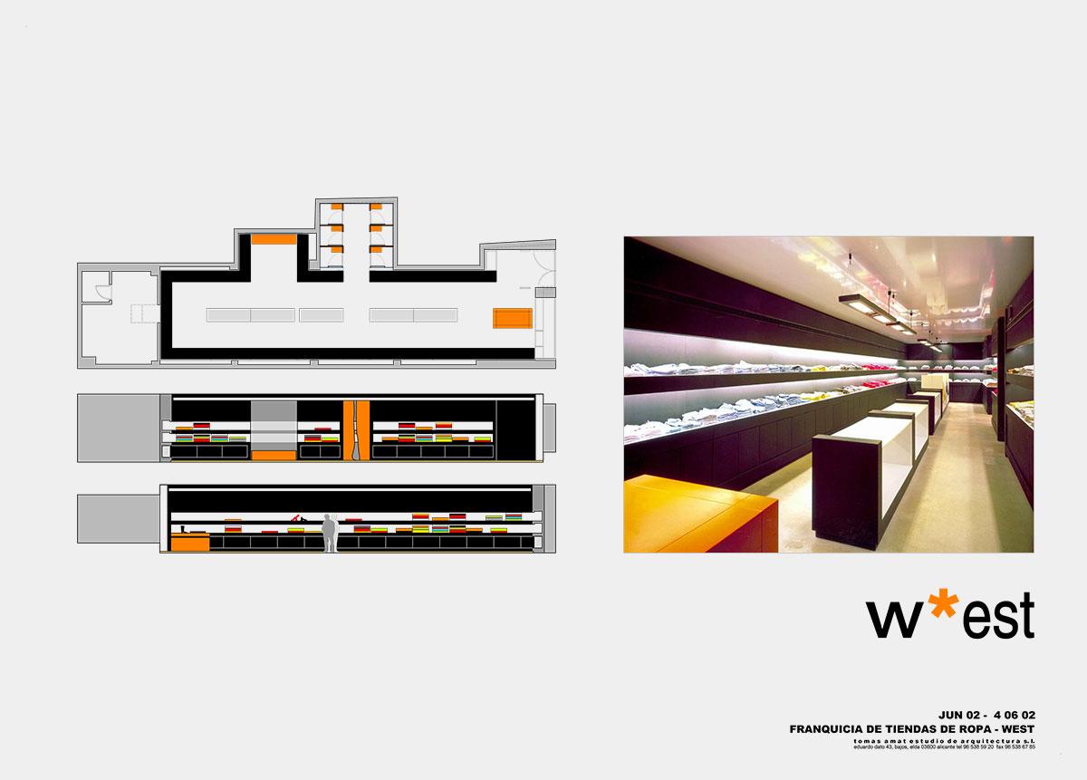 Proyecto de interiorismo de la franquicia West & Co.