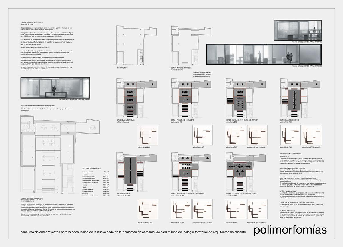 Concurso arquitectura panel presentación