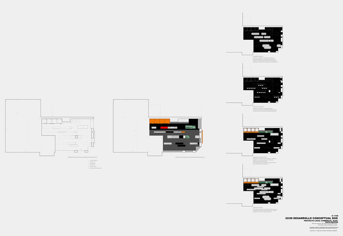 Proyecto de interiorismo para la tienda Yeito Nativo