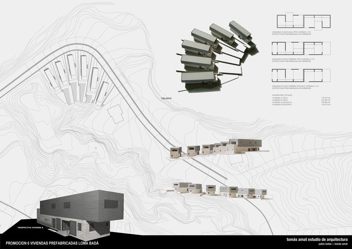 Proyecto de arquitectura. Viviendas Loma Badá