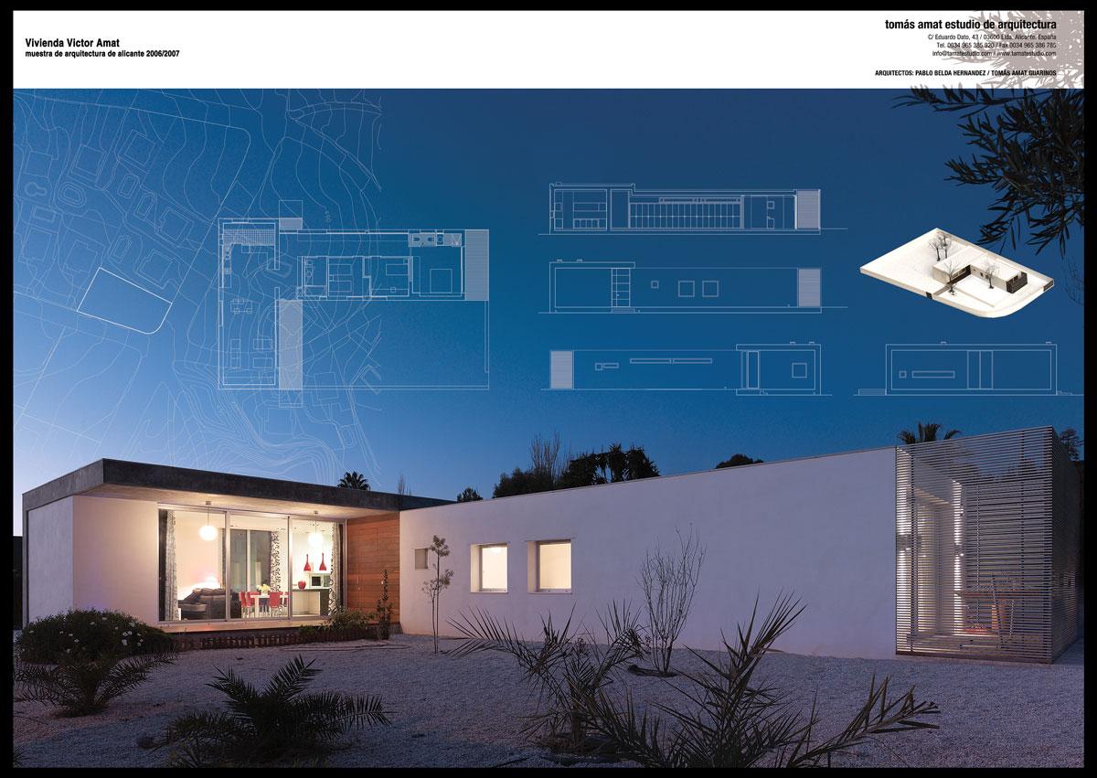 Proyecto arquitectónico. Vivienda de Victor Amat