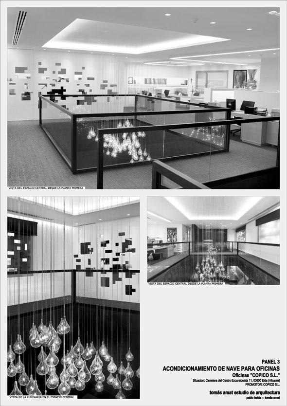 Proyecto de arquitectura e interiorismo para COPICO. Panel informativo 3