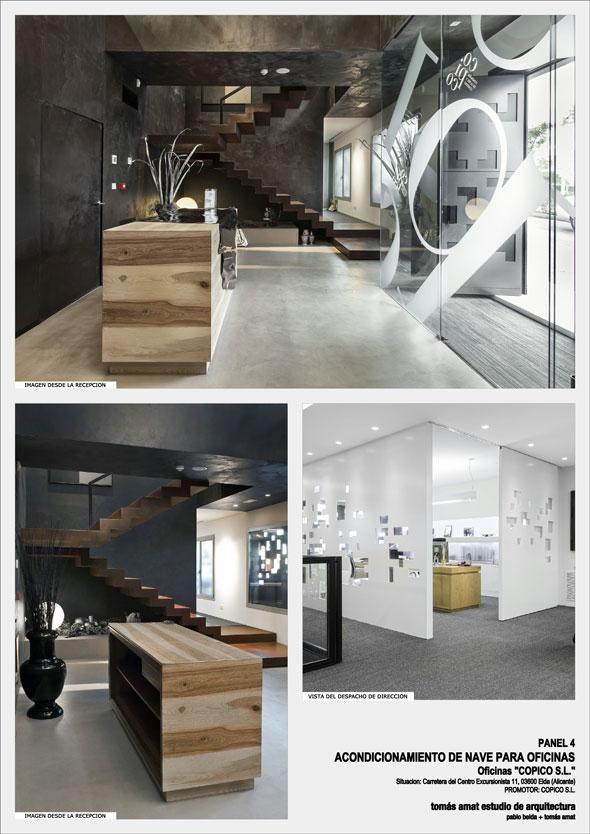 Proyecto de arquitectura e interiorismo para COPICO. Panel informativo 4