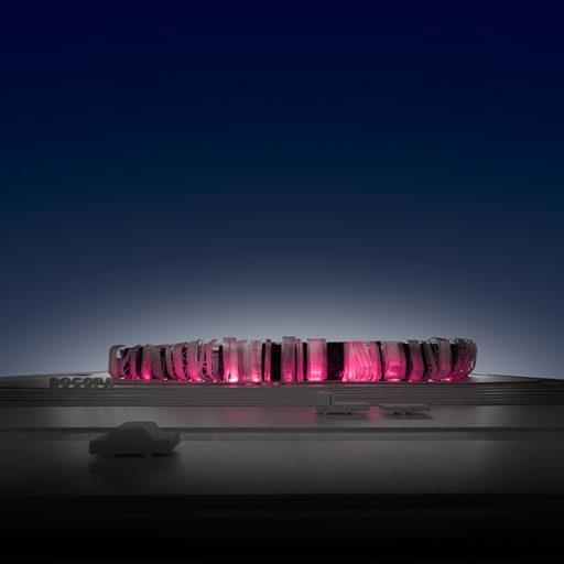 Concurso de rehabilitación de fachada bodegas Bocopa. Maqueta iluminada