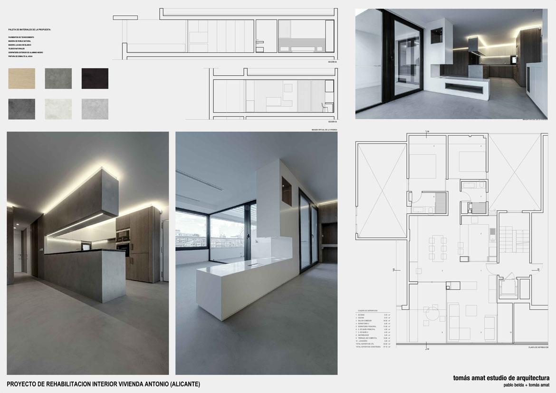 Vivienda Julia y Antonio. Panel con detalles del proyecto arquitectónico 1