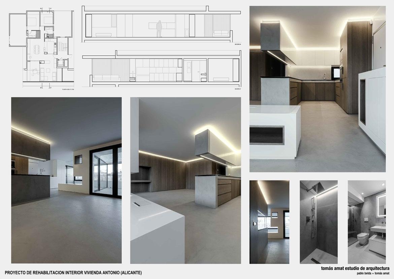Vivienda Julia y Antonio. Panel con detalles del proyecto arquitectónico 2