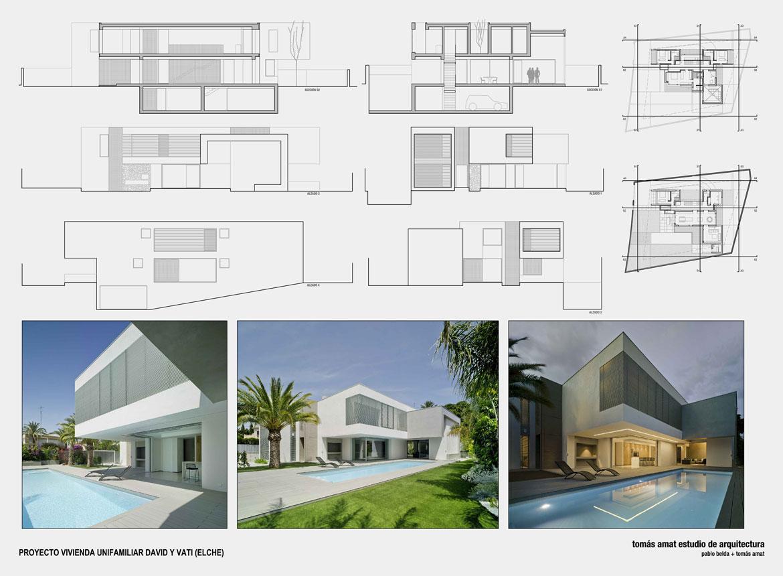 Proyecto de arquitectura. Vivienda unifamiliar. Panel explicativo 3