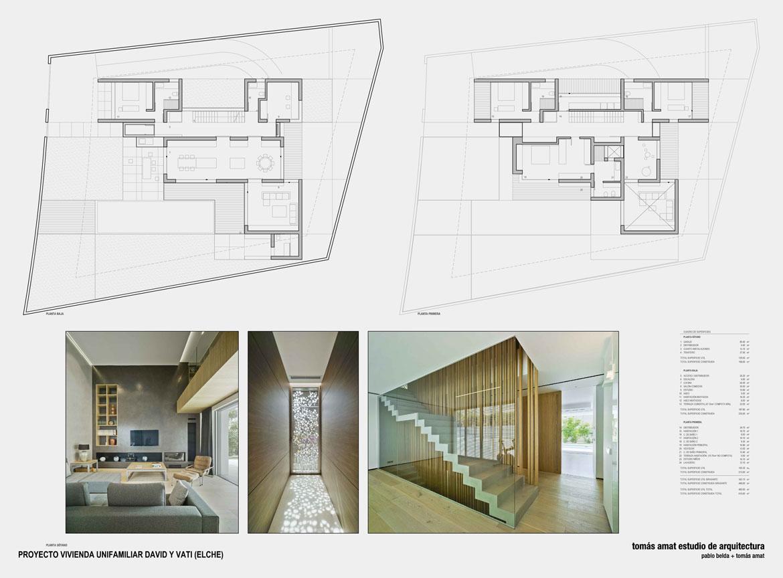 Proyecto de arquitectura. Vivienda unifamiliar. Panel explicativo 4