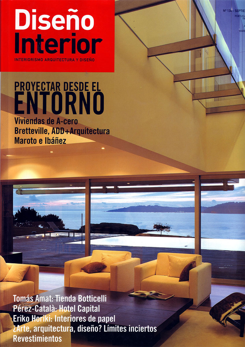 Portada de la publicación Diseño Interior en el que se habla de nuestro proyecto para la tienda Botticelli