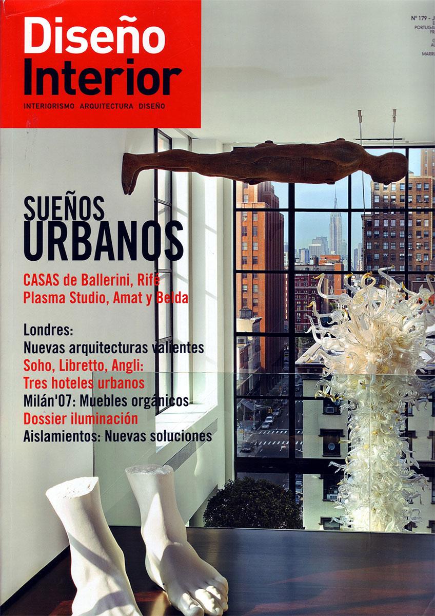 Portada de la revista Diseño Interior número 179