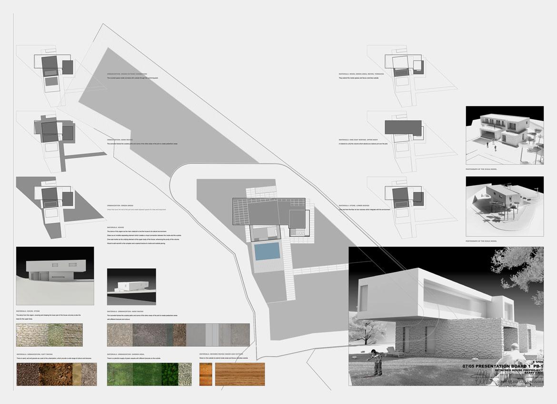 Panel explicativo proyecto arquitectónico en Aigües