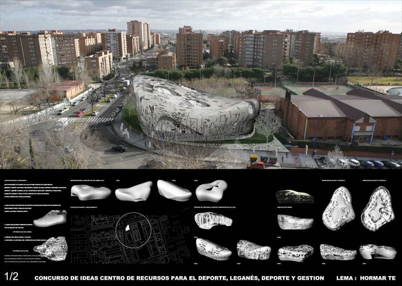Concurso de arquitectura. Pabellón deportivo Leganés