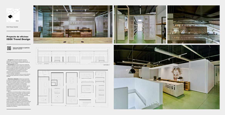 Proyecto de oficinas para la firma Isisi. Panel 1